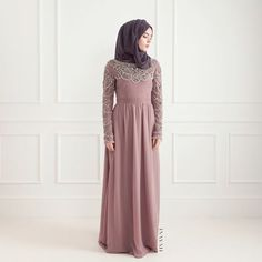 INAYAH | Sureha Evening #Gown + Charcoal Georgette #Hijab www.inayahcollection.com
