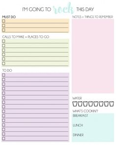 Purposeful Day Worksheet Make Today Awesome  Newsletter