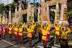 Performers prep for the street parade during the opening of the 38th Bali International Arts Festival. Bali, Indonesia, Wanderlust, Bucket List, Island, Paradise, Bali, Travel, Exotic Places, temple, places to visit in Bali, Balinese food must try.