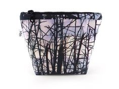 Handmade Thorns Makeup Bag with Chunky Black Zip from maxandrosie.co.uk