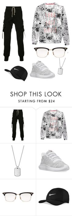 """""""This is my style yo 😭😛❤❤🙂!"""" by kingdiorx1 ❤ liked on Polyvore featuring Rick Owens, GUESS, Emporio Armani, adidas, Thom Browne and NIKE"""