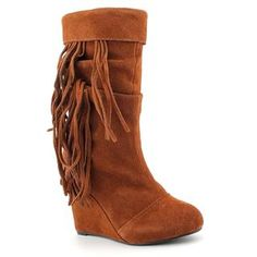 @Overstock.com - The Kelsi Dagger Carousel boots are sure to take you on a fun, fashion-forward ride. These boots feature a suede upper with a slouchy shaft and bohemian fringe accents hanging from the cuffed collarhttp://www.overstock.com/Clothing-Shoes/Kelsi-Dagger-Womens-Carousel-Regular-Suede-Boots/7464218/product.html?CID=214117 CAD              85.52