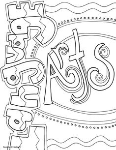 Art coloring pages language arts famous art coloring pages for adults . art coloring pages Student Binder Covers, Student Binders, Book Cover Art, Cover Pages, Book Art, School Book Covers, Binder Cover Templates, Fun Craft, Doodle Pages