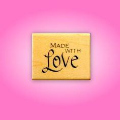 Made With Love Mounted rubber stamp No.15 by sweetgrasstamps
