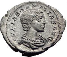 Julia Soaemias Elagabalus Mother 220AD Ancient Silver Roman Coin VENUS i63446