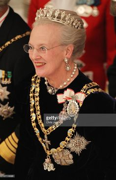 Queen Margrethe II of Denmark attends a Gala Dinner to celebrate her 40 years on the throne at Christiansborg Palace Chapel on January 15, 2012 in Copenhagen, Denmark.