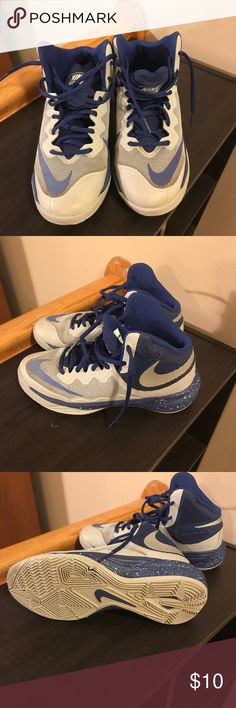 Boys Basketball Nike shoes size 5Y Boys Nike Basketball shoes size 5Y. Navy and silver/gray. Nike Shoes Athletic Shoes