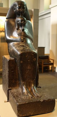 Senmut - Steward, priest, tutor, and all around go-to guy for Pharaoh Hatshepsut. Here he is seated with her daughter Neferura. This is my favorite statue from Ancient Egypt.