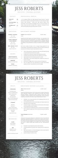 Resume Template - CV Template - Free Cover Letter - MS Word on Mac - how to upload resume on resume