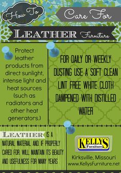 Leather Furniture Care and Maintenance - How to Infographic