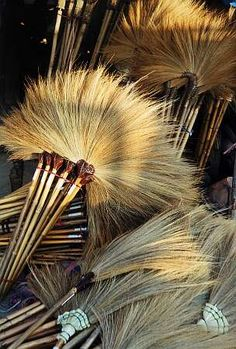 brooms for sale at the market, Thailand | Alison Clayson, UNESCO