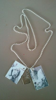 Necklace with pictures made from shrinkie dink
