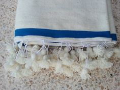 Moroccan Wool Blankets woven by hand with pom by MoroccanTribal, $165.00