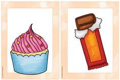 """Bildkarten und Wortkarten """"snacks and sweets""""   Bereits mehrfach kam der Wunsch nach weiteren """"kulinarischen"""" Bildkarten für Englisch auf. ..."""