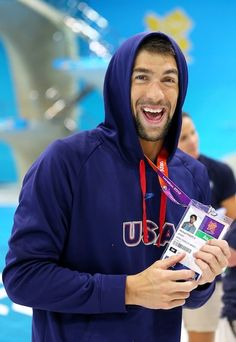 Michael Phelps. He's cute in a nerdy way. And by nerdy, I mean the best in the world. You go, boy.