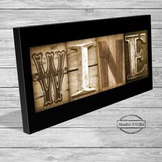 A personal favorite from my Etsy shop https://www.etsy.com/listing/231017343/wine-letter-art-sign-kitchen-wine-sign