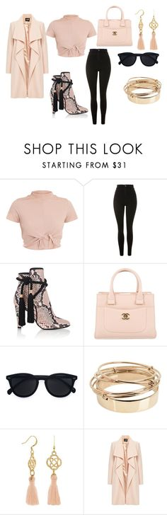 """Untitled #54"" by sharon-s-molnar on Polyvore featuring Topshop, Philosophy di Lorenzo Serafini, Chanel, Le Specs and Valentino"