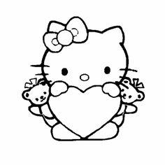 Hello Kittie san valentin con corazon