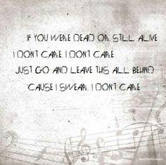 """I Don't Care"" ~Apocalyptica"