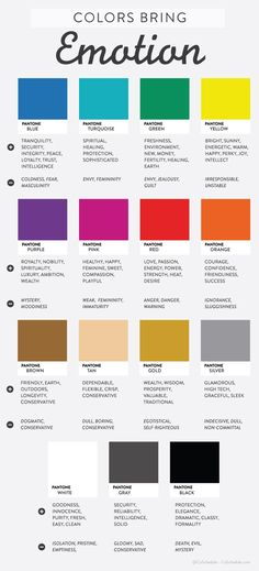 Colors Bring Emotion - Infographic