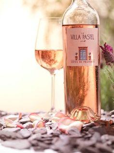 Wine Labels - La Villa Pastel #cPinks (Wine Bottle & glass Photography) #cPeach (#RoséEtAl)