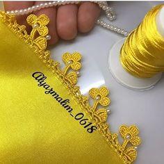 Churidar Neck Designs, Saree Kuchu Designs, Satin Stitch, Heart Charm, Bonsai, Videos, Crochet Instructions, Crochet Edgings, Lace