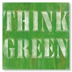 Think Green Art Print……réepinglé par Maurie Daboux ♪ ♪ World Of Color, Color Of Life, Green Art, Green Colors, Mean Green, Online Posters, Photocollage, Green Life, Mellow Yellow