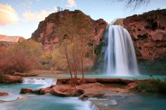 Located on the Havasupai Tribe Reservation, the swimming hole at Havasu Falls is a doozy to get down, but well worth it.