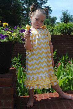 PDF girls sewing pattern Shoulder Tie Dress  Size 6,7,8