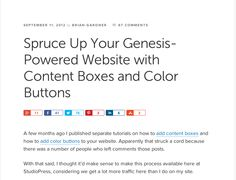 How To Create Content Boxes and Buttons for Your Genesis WordPress site #wpgenesis #wordpress