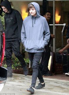 Up All Night? The One Direction singer's skin appeared dull and his eyes a little bleary, with small bags below them, as he was pictured out and about in his adopted home town