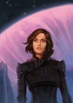 Eleonor Piteira Art | Pathfinder Leah Ryder, from Mass Effect: Andromeda...