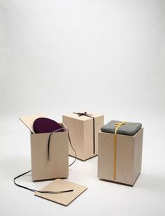 "Tokyo-born Copenhagen-based designer Yukati Hotta has proved once again that simple, functional furniture can look amazing by adding a touch of color and creativity. The Hako Stool – translates from Japanese as ""box"" – is a simple and effective wa Kids Furniture, Modern Furniture, Furniture Design, Simple Furniture, Smart Furniture, Furniture Layout, Scandinavia Design, Wooden Stools, Japanese Design"