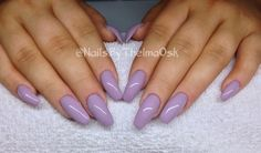 Beautiful dark pastel purple gel colour / @NailsByThelmaOsk