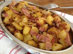 Food Dishes, Side Dishes, Bacon, Greek Recipes, Potato Salad, Food Porn, Food And Drink, Sweets, Meals