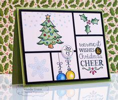 Christmas Card 2013 by Wanda Guess #Cardmaking, #Christmas