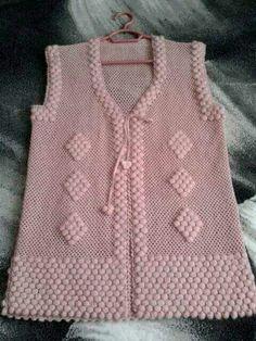 Kate's Crochet World Loom Crochet, Crochet Coat, Baby Knitting Patterns, Knitting Designs, Woolen Dresses, Border Embroidery Designs, Crochet Baby Clothes, Jacket Pattern, Indian Designer Wear