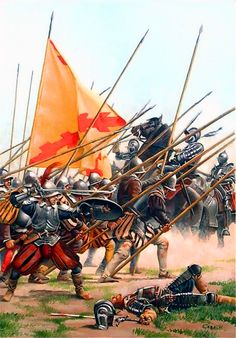 Final stand of the Spanish tercio at the Battle of Rocroi against French gendarmes