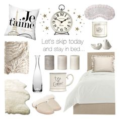 """""""Let's skip today and stay in bed..."""" by lgb321 ❤ liked on Polyvore featuring interior, interiors, interior design, home, home decor, interior decorating, Wyatt, H&M, ferm LIVING and UGG Australia"""