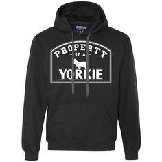 Yorkie - Property Of A Yorkie - Heavyweight Pullover Fleece Sweatshirt