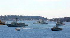Navy ships in Sydney Harbour - ♒ www.pinterest.com/WhoLoves/International-Fleet-Review-2013 ♒  #IFR2013