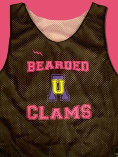 Bearded Clams Pinnies - Custom Mesh Pinnies www.lacrossepinnies.com
