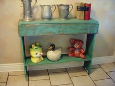 Double Drop Leaf Table  Antiqued and Shabby by honeystreasures, $325.00