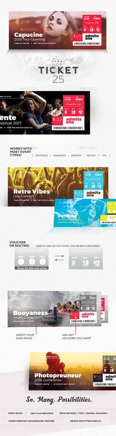 Inverto Party Event Ticket Event ticket, Psd templates and Template - bus ticket template