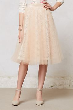 anthropologie lace tulle skirt