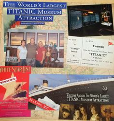 I have been hoarding onto these pictures and ticket stubs since I was chicken to do them and that the perfect paper would come along. Journal Ideas Smash Book, Smash Book Pages, Art Education Projects, Education Journals, Travel Scrapbook, Scrapbook Pages, Scrapbooking, Boston Vacation, Titanic Museum