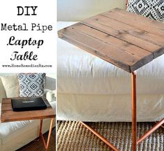 Metal Pipe Laptop Table | Best Home Depot Hacks and Homesteading Tips & Tricks at http://pioneersettler.com/home-depot-hacks-homesteading-tips-tricks