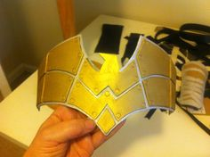chest armor completed. Look at that shiny gold!