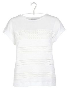 Tee-shirt brodé Blanc by GERARD DAREL