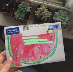 Watermelon snail mail